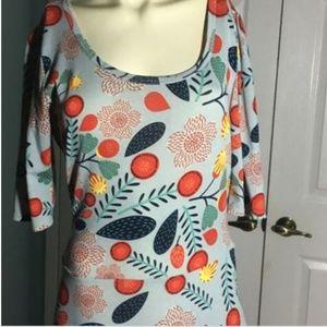 LuLaRoe Ana Maxi Length Dress Size XL Floral Gorge